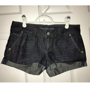 American eagle outfitted denim mini shorts size 4